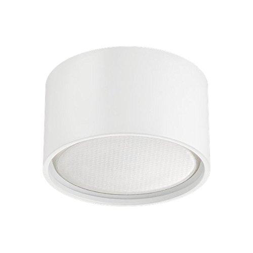 LED Aufbaustrahler Set GX53 - Weiß - tauschbares und dimmbares 4,5 W Markenleuchtmittel von LEDANDO - warmweiss - 120° Abstrahlwinkel - 30W Ersatz - A+ - Aluminium - Aufbauspot