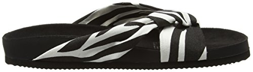 Cheap Monday Damen Blasé Knot Pantoffeln Multicolour (Zebra)
