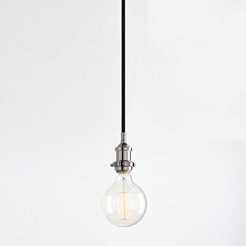 Pendentif Pendentif corde feux vintage lampes de plafond Luminaire Luminaire moderne Hanglamp Lumières Décorations pour la maison,Brushed
