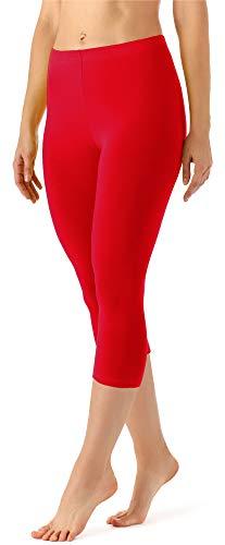Lange Länge Leggings (Merry Style Damen Leggings 3/4 MS10-144(Rot, 44 (Herstellergröße: XXL)))