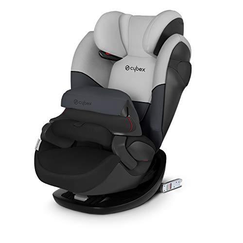 CYBEX Silver 2-in-1 Kinder-Autositz Pallas M-Fix, Für Autos mit und ohne ISOFIX, Gruppe 1/2/3 (9-36 kg), Ab ca. 9 Monaten bis ca. 12 Jahren, Cobblestone