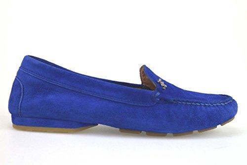 scarpe donna FABI mocassini blu camoscio AM709 (35,5 EU)