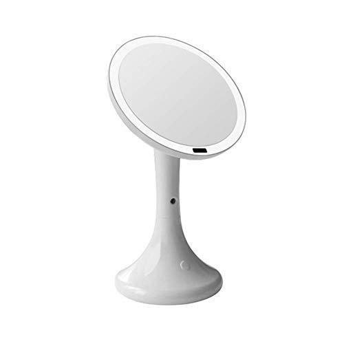 ZNDDB LED kosmetikspiegel - Feuchtigkeitsspray wiederaufladbar schminkspiegel Schreibtischlampe 25Cm Infrarot Körper Sensorbildschirm,White