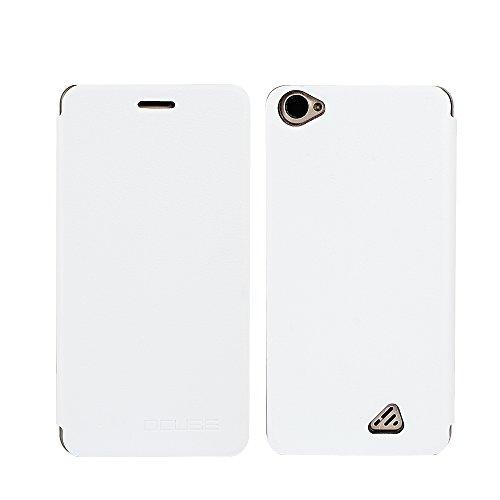 Frlife Oukitel C5 Pro Hülle Weiß, Bookstyle Handyhülle Premium PU-Leder klapptasche Case Brieftasche Etui Schutz Hülle für Oukitel C5 Pro