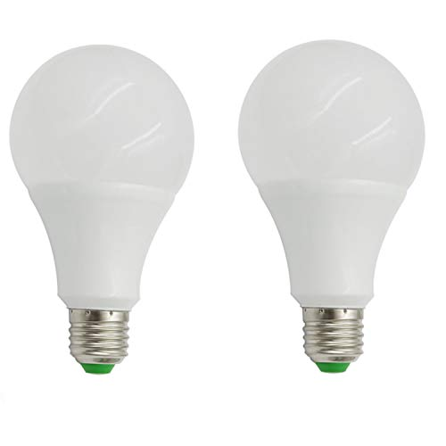 aiyowei E279W SMD Ball LED-Birne DC/AC 12-24V Explosion Proof Energiesparend Haushalt LED Lampe warm weiß 3000K (Pack von 2) -
