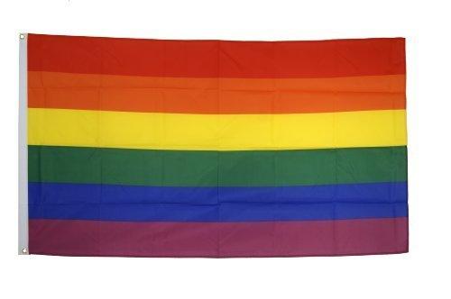Foto de BANDERA ARCOIRIS 150x90cm - BANDERA GAY – RAINBOW 90 x 150 cm - AZ FLAG