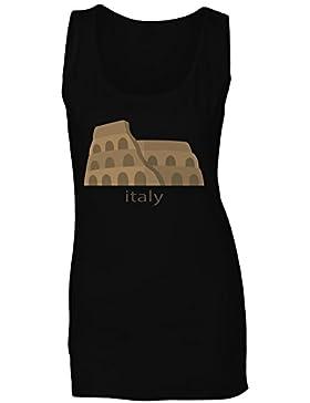 Nueva Hermosa Italia Roma camiseta sin mangas mujer m313ft