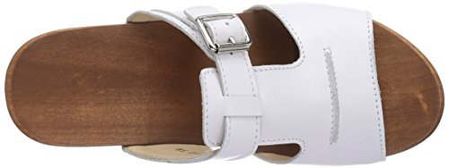Woody Kerstin, Mules Femme blanc (Weiss)