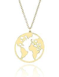9369a256fd35 Amazon.es  un mapa mundi - Mujer  Joyería