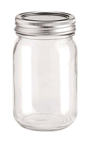 Glas (GLOREX Glas mit 2-Tlg Deckel, Transparent, 6.5 x 6.5 x 13.5 cm)