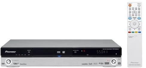 Pioneer DVR 550 HX S DVD- und Festplatten-Rekorder 160 GB (Upscaling 1080i, HDMI, USB, DivX-Zertifiziert) mit integriertem DVB-T Tuner Silber - Dvr-dvd-rekorder Festplatte