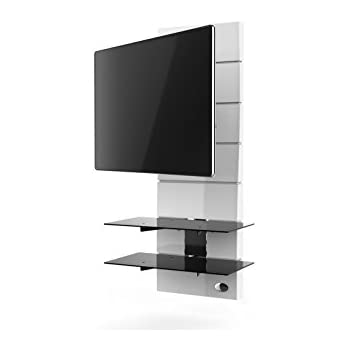 Meliconi Ghost Design  R Meuble Pour Tv Blanc AmazonFr Tv  Vido