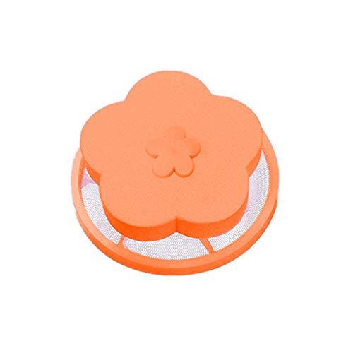 TPulling Waschmaschine Mesh Filterbeutel Für Fell & Fussel Tierhaarentferner Waschmaschine Wiederverwendbarer Abwaschbar (orange, Einheitsgröße) Nylon Wolle Fell