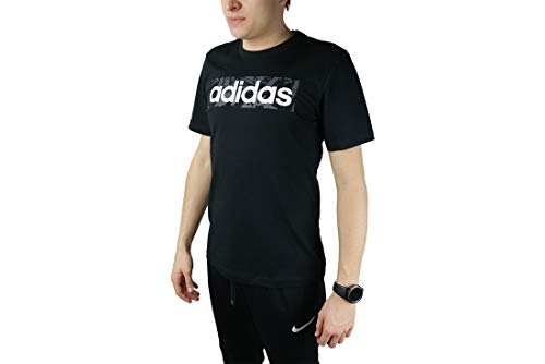 adidas Performance Linear AOP Box T-Shirt Herren schwarz, L (52/54 EU)