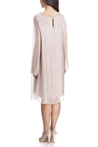 Laura Moretti - Robe longue en soie avec paillettes Rose