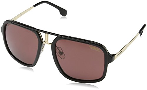 Carrera Unisex-Erwachsene 1004/S W6 2M2 Sonnenbrille, Schwarz (Black Gold/Burg PZ AR), 57