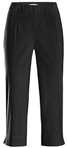 Stehmann Ina-530, Bequeme, stretchige Caprihose Farbe schwarz, Größe 36