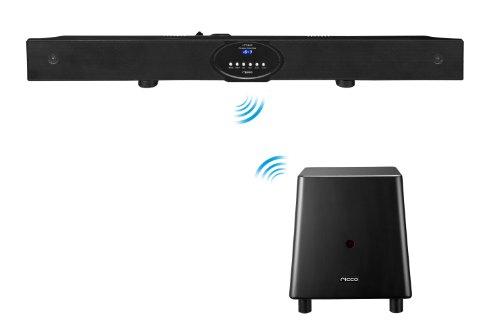 600W PMPO 60W RMS Bluetooth Soundbar and 2.4G Wireless Subwoofer