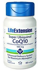 LifeExtension Super Ubiquinol CoQ10 with Enhanced Mitochondrial Support 100mg 60 Caps
