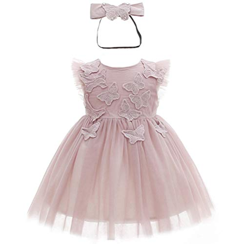 Monimo Baby Mädchen Prinzessin Kleid Pailletten Genagelt Festlich Kleid Hochzeit Partykleid Festzug Babybekleidung (Pailletten-kleid Für Mädchen)