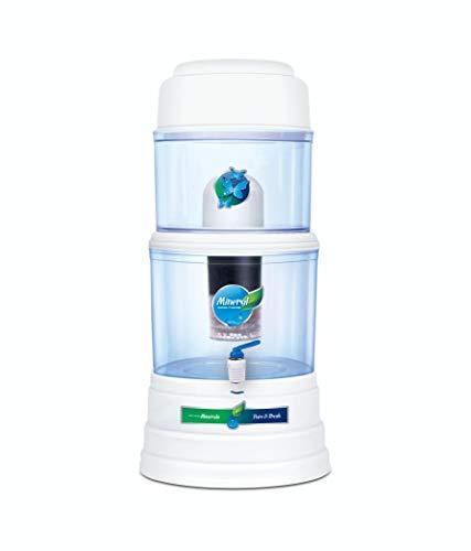 Grand Plus Aquagrand Aqua Mineral Pot 16 L 16 Gravity Based Water Filter White (Multicolor)