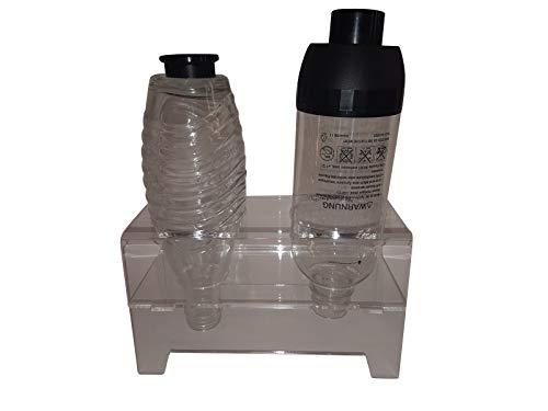 flexiPLEX bottleDRY Twin aus PLEXIGLAS® Abtropfhalter und Flaschenständer transparent für Kunststoffflaschen/Glasflaschen