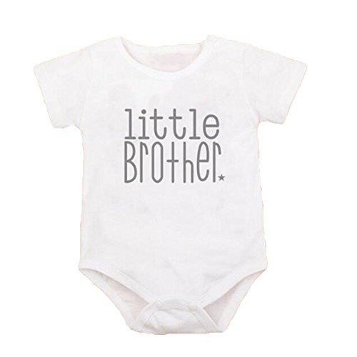 Brüder-kleidung (Juqilu Bruder Passende Kleidung Big Brother Little Brother Gedruckt Baby Kinder Jungen Mädchen Baumwolle T-Shirt Tops White 3XL/18-24M)