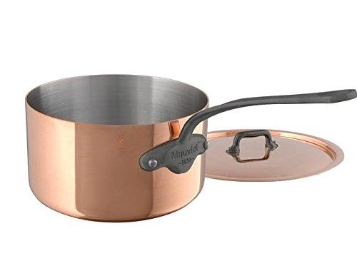Mauviel M'Heritage M150C 6450.13 Copper Saucepan with Lid. 0.7L/0.8 quart 12cm/4.8