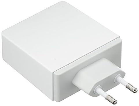 aricona Dual USB HUB Ladekabel Adapter Station– mehrfach USB Stecker Ladestation mit Netzteil, Universal Ladegerät mit Quick Charge: Apple & Android Smartphone, (Bosch Ixus)
