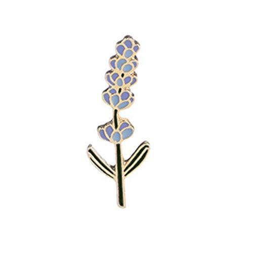 Carry stone Kreative Lavendel Blume Brosche Emaille Schal Schal Schnalle Kragen Pin Bekleidungszubehör Dekoration Hochzeit Schmuck Geschenk für Frauen Mädchen (Blau) Langlebig und praktisch