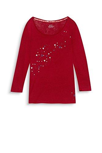 edc by Esprit T-Shirt à Manches Longues Femme Rouge (Garnet Red 620)