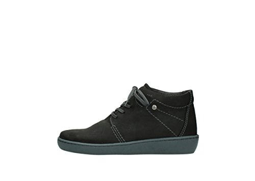 Wolky Chaussures à lacets 8126Babylone 500 black oiled nubuck