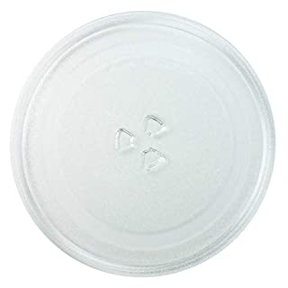 Invero Strong Durable Universal Microwave Turntable Glass Plate with 3 Fixers (255mm)