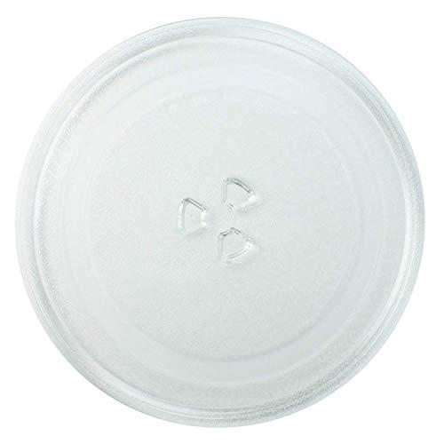 Invero® Master Plaque de Verre Micro Onde Universelle 3 Fixations, 245mm Diameter