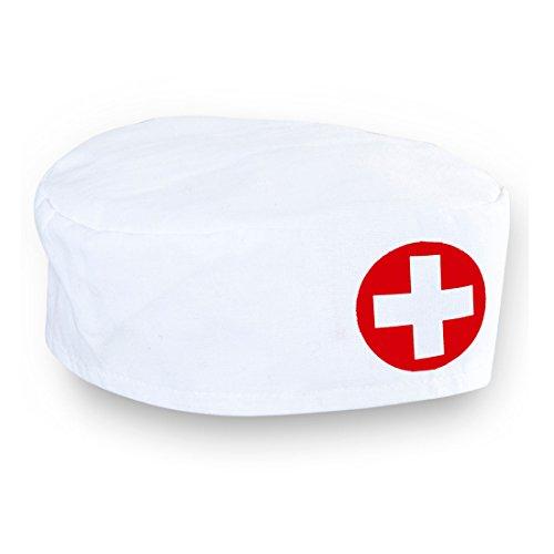 aube Ärztin Häubchen Schwester Hut Krankenschwester Haube Karneval Kostüm Damen Zubehör Arzt Kopfbedeckung Sexy OP Mütze ()