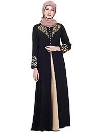 TAAMBAB Femmes Maxi Robe Longue Abaya Caftan Marocain - Kimonos Manches  Longues Jilbab Kaftan Islamique Musulman f4ce6563534