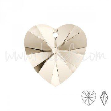 I-Beads Anhänger Herz Swarovski Crystal Silver Shade 10mm (2) -