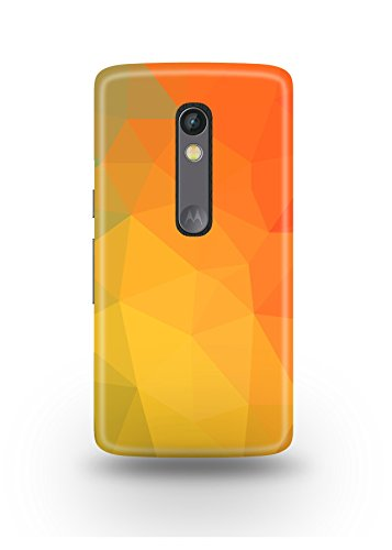 Moto X Play Cover,Moto X Play Case,Moto X Play Back Cover,Yellow Polygons Moto X Play Mobile Cover By The Shopmetro-12447
