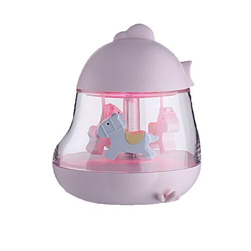 Carrousel Musique Lumières Cadeau Parent-enfant Jouet Cadeau Musique Veilleuse Chambre Dortoir Coloré Veilleuse (Couleur : Rose)