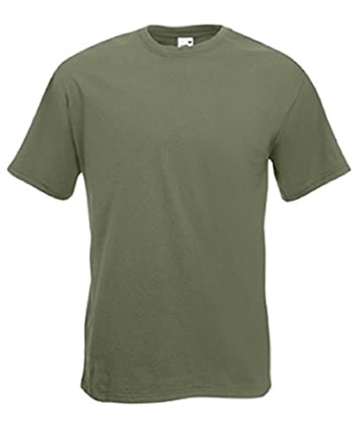 Fruit of the Loom Super Premium T in Classic Olive Size L (SS10)