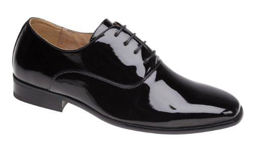 Uomo da sera / uniforme / oxford scarpe in vernice nera - nero, uomo, 42 eu