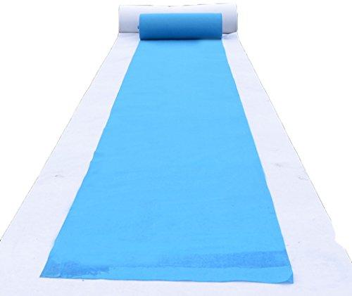 Einmalige Hochzeit blauen Teppich/einmalige Thema Veranstaltung Teppich/Hotel Willkommen/Abschluss/Abendessen/Eröffnung/Business-Ausstellung Anti-Rutsch-Teppich ca. 2mm dick (Blauen Teppich Und Seile)