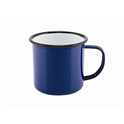 Tasse NEV-50018BLUE aus Emaille von Genware, 360 ml, Blau