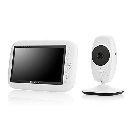 Monitor de bebé inalámbrico con pantalla LCD de 7 pulgadas, visión nocturna, conversación bidireccional...