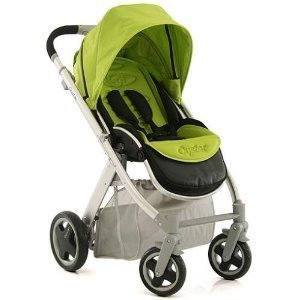 Babystyle Oyster Silver Baby Pushchair with Lime Colour Pack
