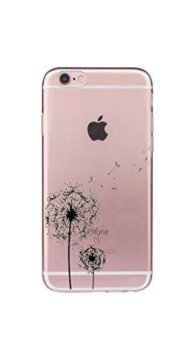 iPhone 6Plus TPU Hülle Disney Pusteblume Vögel Vogel Case transparent klare Schutzhülle Schwalben Disney Hülle iphone6 Tasche Mobile Phone Case (iPhone 6/6SPlus, Pusteblume)