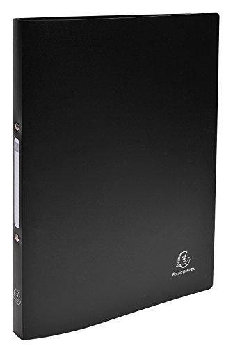 Exacompta 54191E Ringbuch (PP 500µ 2 Ringe 15mm, Rücken 20mm, blickdicht, DIN A4) schwarz