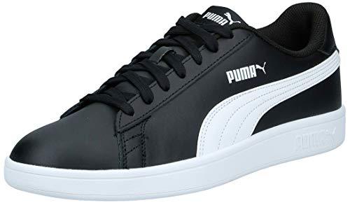 puma puma smash v2 l scarpe da ginnastica basse unisex - adulto, nero (puma black-puma white), 43 eu (9 uk)