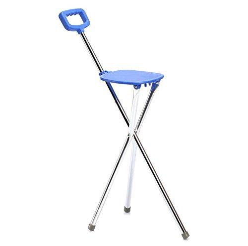 FACAIG Walker multifunktionale Three-Llegged Zuckerrohr Sitz Walking Stick CaneStool Für ältere Menschen aus einer Aluminiumlegierung