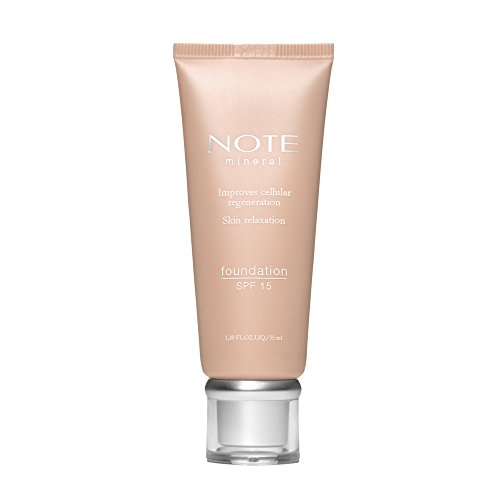 NOTE Cosmetics Mineral Foundation 402 - Natural Mineral Ingredients - High Concealing Make Up - Full Cover - 35 gr
